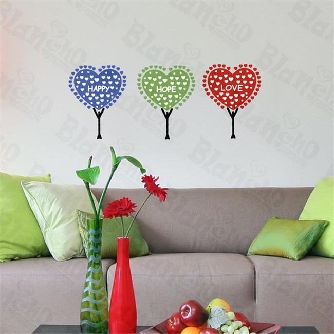 Happy Hope Love - Hemu Wall Decals Stickers Appliques Home Decor