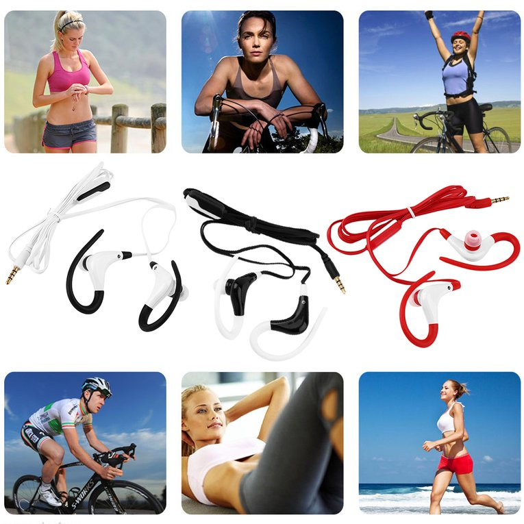 In-Ear Sports Running Active Earphone Earbuds Hook Headphone Headset