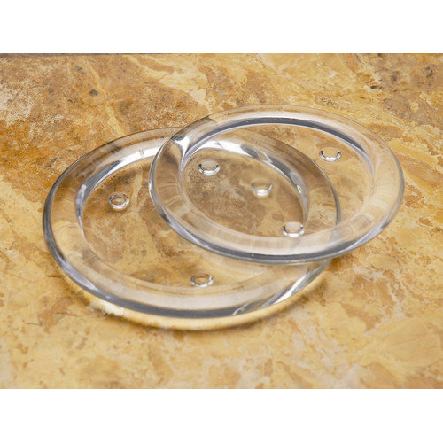 Biedermann and Sons Round Glass Pillar Candle Holder (Set of 2) (Set of 2)