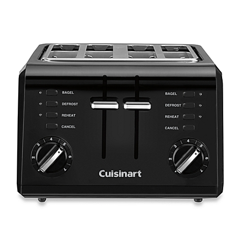 Cuisinart CPT-142BK 4-Slice Compact Toaster-Black (Certified Refurbished)