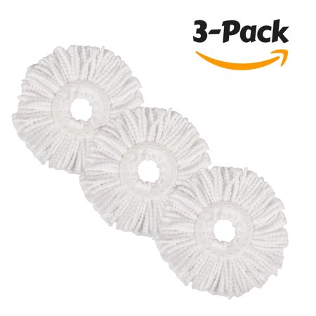 Hapinnex Spin Mop Microfiber Heads  Lot Of 3X Microfiber Cloth Head Replacements   Compatible With Major Round Spin Magic Mop