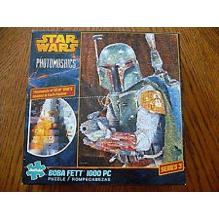 Star Wars Boba Fett Series 3 1000-Piece Photomosaic Puzzle by Buffalo Games, (Star Buffalo)