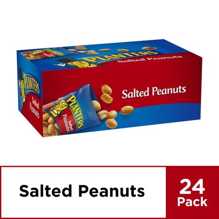 Planters Peanuts, Salted, 24 - 1 oz Bags ()