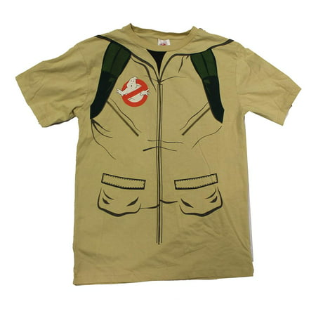 Adult's Ghostbusters Shirt With Inflatable Proton Gun Costume](Ghost Busters Outfit)