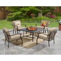 Deals on Mainstays Belden Park 5-Piece Fire Pit Set