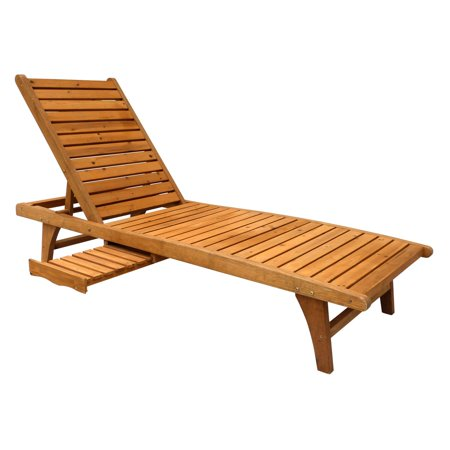 Leisure Season Chaise Lounge with Pull-Out Tray ()