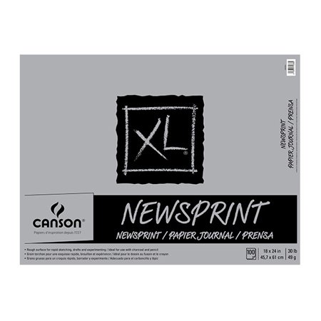 - Canson XL Rough Newsprint 18x24