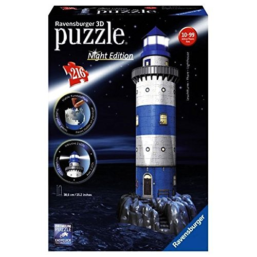 3D Puzzle: Lighthouse: Night Edition Puzzle, 216 Pieces by Ravensburger