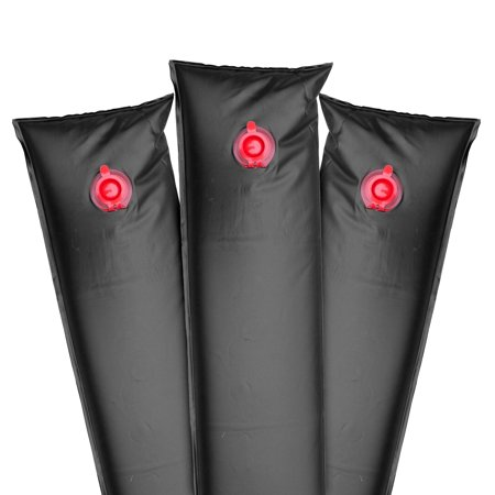 Robelle Winter Water Tube For Swimming Pool Covers Premium 20g. Single-Chamber 10-Foot, Black, 12-Pack