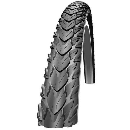 Schwalbe Marathon Plus Tour Tire, 700x40 Wire Bead Black with Reflective Sidewall and SmartGuard (Schwalbe Marathon Plus Best Price)