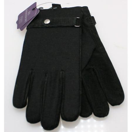 Grandoe NEW Deep Black Mens Size Large L Wool-Blends Winter Gloves (Grandoe Mens Glove)