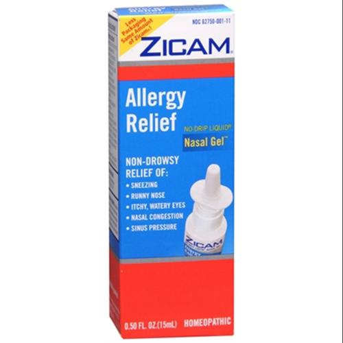 Zicam Allergy Relief Nasal Gel 0.50 oz (Pack of 3)