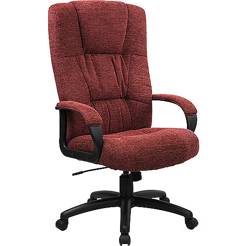 high back executive fabric office chair, multiple colors - walmart