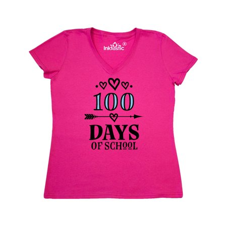 100 Days Of School 100th Day Party Women's V-Neck T-Shirt (100th Day Of School Shirts)