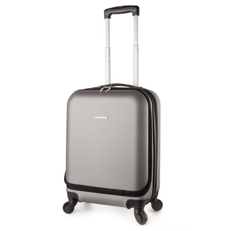 - TravelCross Boston Carry On Lightweight Hardshell Spinner Luggage - Dark Gray