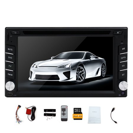 Auto 2din Car Electronic Car DVD Player GPS Navigation Radio Autoradio Tuner PC Video Music Player Monitors for Universal In Dash RDS/AM/FM Bluetooth Car Stereo 2 din Free Map Card Free Camera