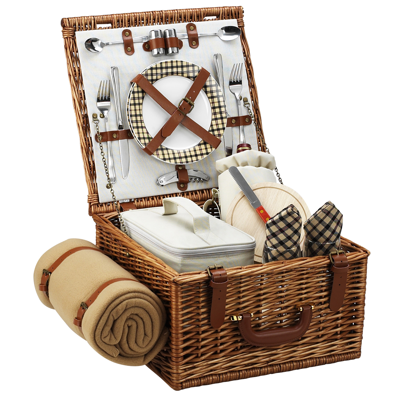 Picnic at Ascot Cheshire Basket for 2 w/blanket -London (702B-L)