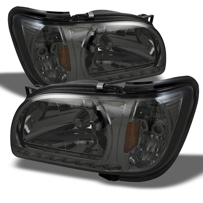 Fits 01-04 Toyota Tacoma Replacement Smoked LED 1PC Headlights Corner Lamps L+R