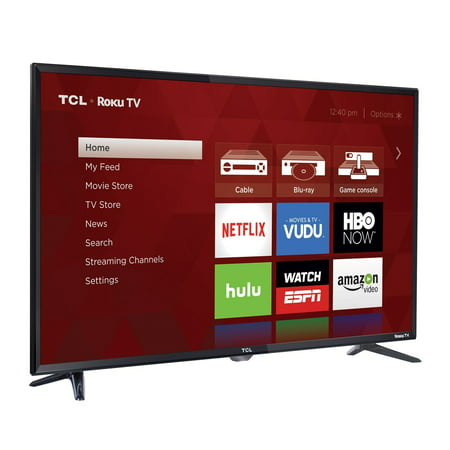 TCL 40FS3750 1080p 40″ 120Hz LED Roku TV, Black  (Certified Refurbished)