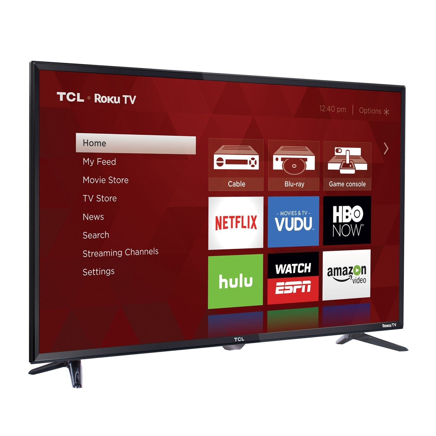 "TCL 40FS3750 1080p 40"" 120Hz LED Roku TV, Black  (Certified Refurbished)"