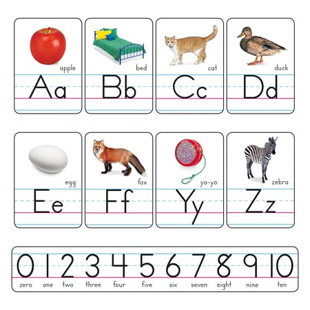 - Zaner-Bloser Manuscript Photo Alphabet Bulletin Board Set (T-721), Use to reinforce foundational language arts skills: letter recognition, ABC order, letter/sound matching, and vowel and consonant