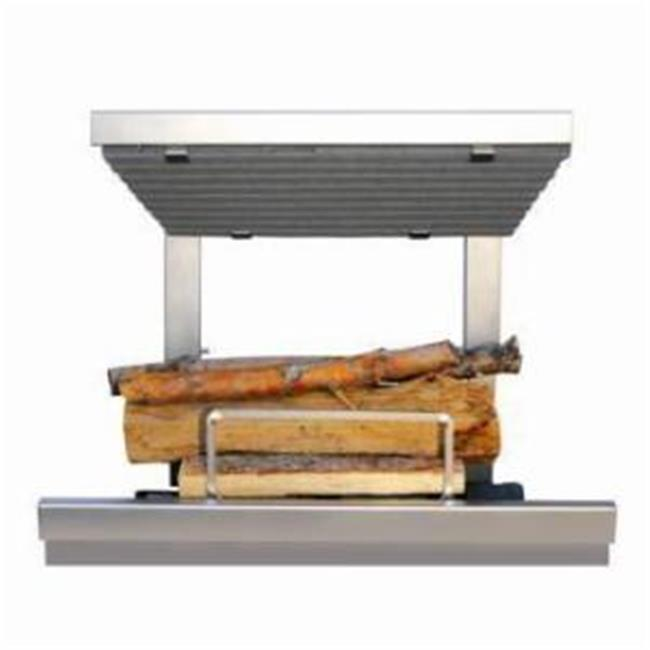 Earths Flame EF36SS Hybrid Clean Burn Wood Fireplace System - Including Natural Gas Log Lighter