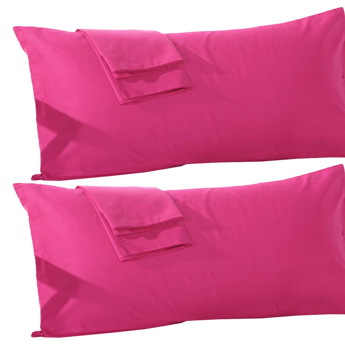 "Unique Bargains 2 Pack, 20"" x 55"" Body Pillowcase Pillow Case Cover Egyptian Cotton, Body Pillow Cover Sliver"