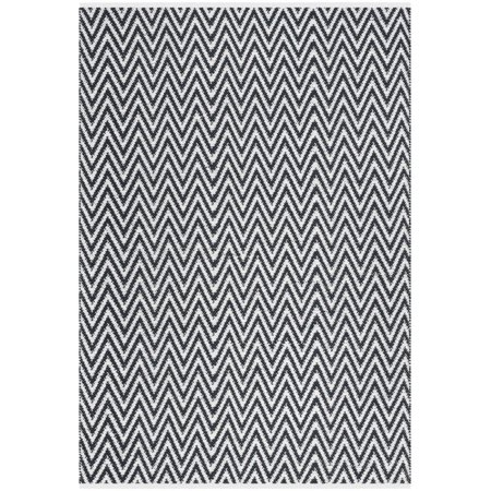 "Safavieh Montauk 2'3"" X 3'9"" Hand Woven Cotton Rug in Black and Ivory - image 3 de 3"