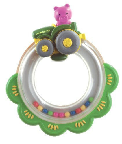 The First Years John Deere Tractor Ring Rattle Multi-Colored