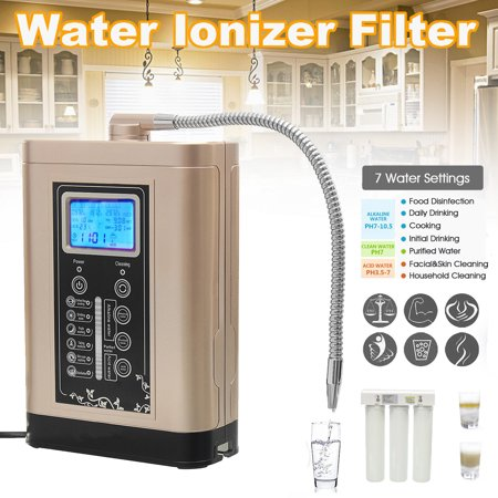 Water Ionizer Purifier Machine Balance Bodies vehiclepartsaccessorie PH Levels Slow The Ageing Process LF700 LCD Touch Control Alkaline Acid PH