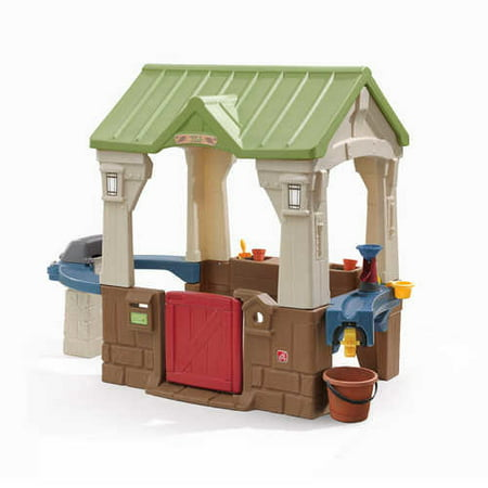 Step2 Great Outdoors Playhouse, with Built-In Grill and Garden