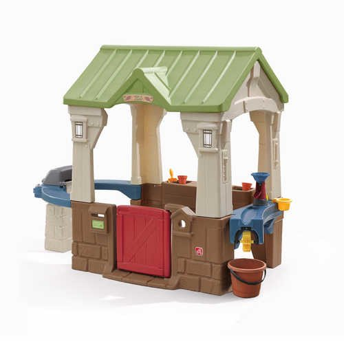 Step2 Great Outdoors Playhouse With Built In Grill And Garden Area