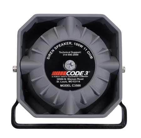 PSE AMBER C3500U Siren Speaker, Aluminum Housing