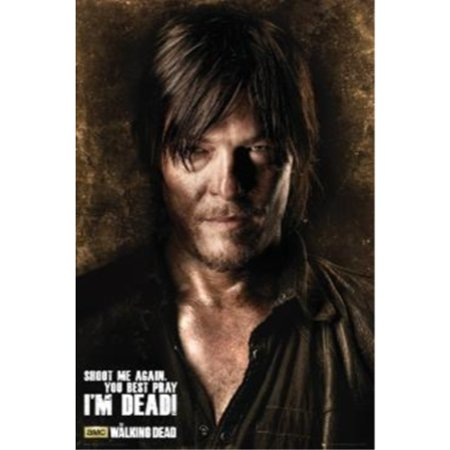 The Walking Dead - Daryl: Shoot me aga you best pray IM DEAD! 36x24 Art Print Poster   Horror Television AMC (Best Amc In Nyc)