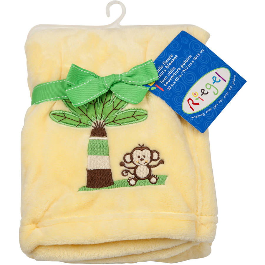 Riegel Embroidered Cuddly Fleece Blanket (Choose Your Color)