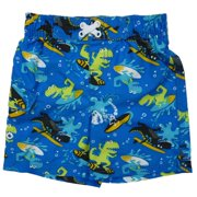 Joe Boxer Infant Toddler Boys Blue Surfing Dinosaur Swim Trunks Board Shorts