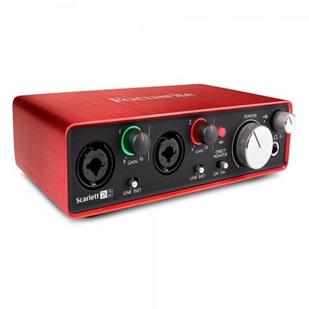 focusrite scarlett 2i2 2nd gen usb smart ios compatible audio interface with pro tools first. Black Bedroom Furniture Sets. Home Design Ideas
