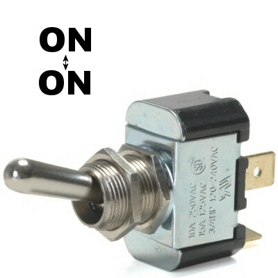 K-Four On / On 20 Amp Toggle Switch With Tab Terminals