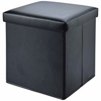 Deals on Mainstays Collapsible Storage Ottoman, Carbon Black