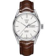 Tag Heuer Carrera Leather Automatic Mens Watch WAR201B.FC6291