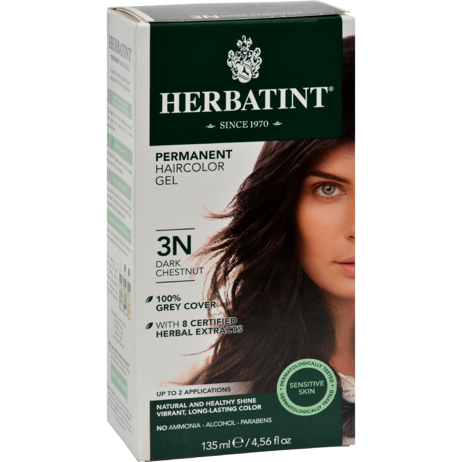 Bioforce Herbatint  Permanent Herbal Haircolor Gel, 1 ea