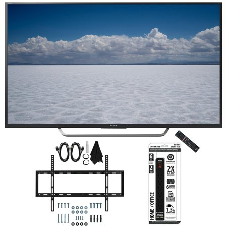 Sony XBR-55X700D – 55″ Class 4K Ultra HD TV with Slim Wall Mount Bundle includes TV, Slim Flat Wall Mount Ultimate Kit and 6 Outlet Power Strip with Dual USB Ports
