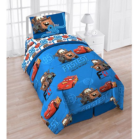 Cars 4pc Bed Set With Bonus Tote Walmart Com
