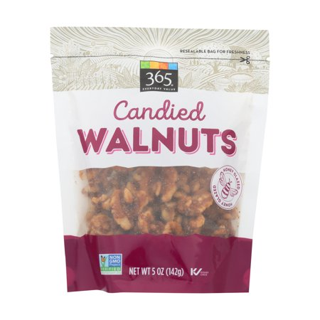 Pack of 2 - Honey Glazed Candied Walnuts, 5 (Honey Glazed Walnuts)