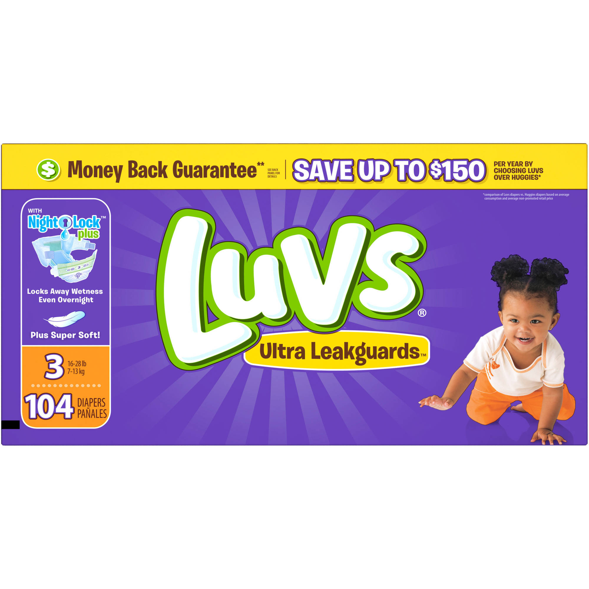 Luvs Ultra Leakguards Diapers, Size 3(Choose Diaper Count)
