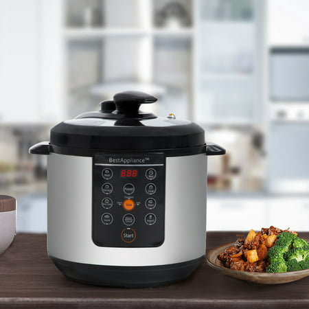 Electric Pressure Cooker 6 Qt Rice Cooke Slow Cooker,Multi-Use Programmable For Slow Cook, Saute, Rice Cooker, Yogurt, Steamer, Warmer