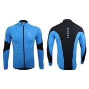 Arsuxeo Winter Warm Fleece Running Fitness Excercise Cycling Bike Bicycle Outdoor Sports Clothing Jacket Wear Wind Coat Long Sleeve Jersey