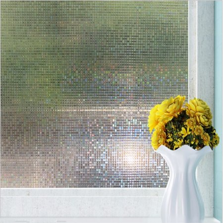 3D Removable Window Films Privacy Frosting Film Static Decorative Stained Glass Window Film Non-Adhesive Heat Control Anti UV For Home/Bedroom/Bathroom/Office(18
