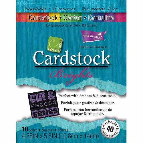 "Core'dinations Core Essentials Cardstock, 4.25"" x 5.5"", 40pk"