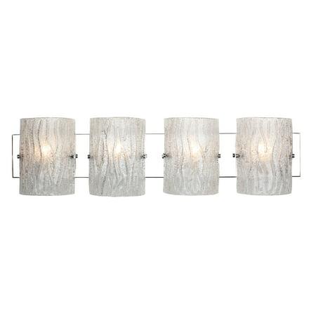 Varaluz - Brilliance - 4 Light Bath Vanity - Chrome Finish - Bright Ice Glass